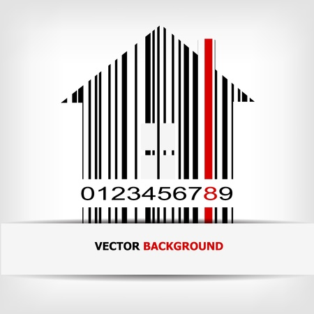 Barcode image with red strip Stock Vector - 14030501