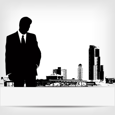 abstract businessman silhouette background Vector