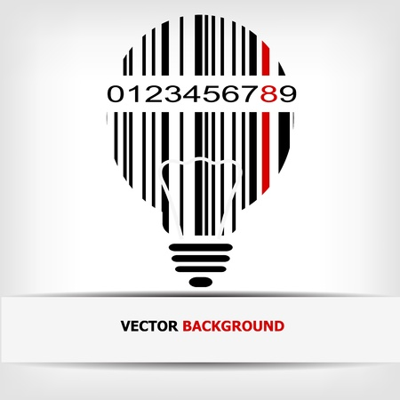Barcode image with red strip  Stock Vector - 14030480