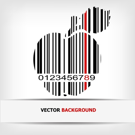 Barcode image with red strip Stock Vector - 14030499