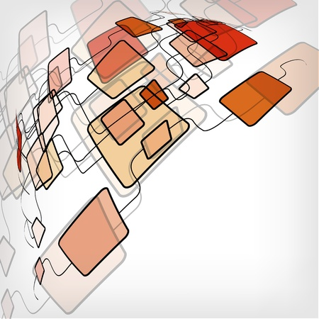 Retro Abstract Design Colorful Square Template - vector illustration Stock Vector - 14030812