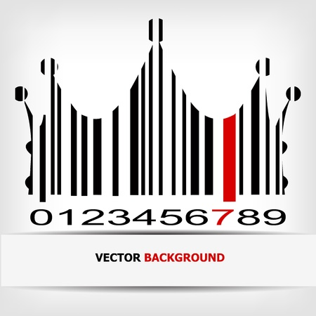 Barcode image with red strip  Stock Vector - 14030494