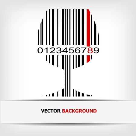 Barcode image with red strip Stock Vector - 14030467