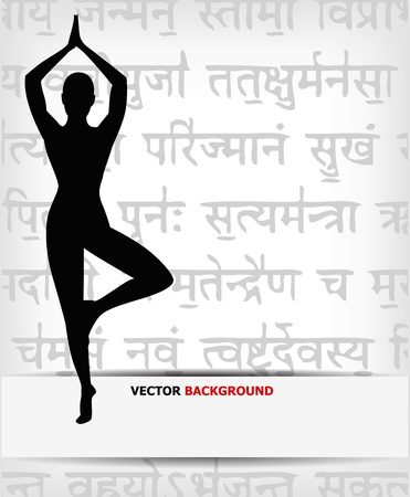 abstract yoga background  Vector