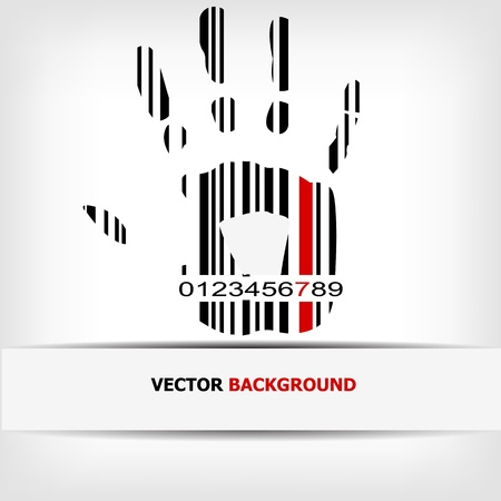 Barcode image with red strip -  illustration Stock Vector - 15727244