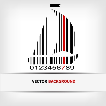 Barcode image with red strip - illustration Stock Vector - 15727218