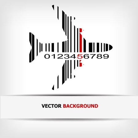 Barcode image with red strip -  illustration Stock Vector - 15727219