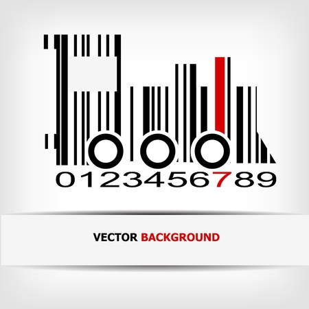 Barcode image with red strip -  illustration Stock Vector - 15727220