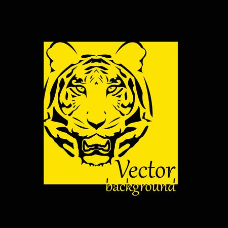 abstract tiger background with place for your text - illustration Vector