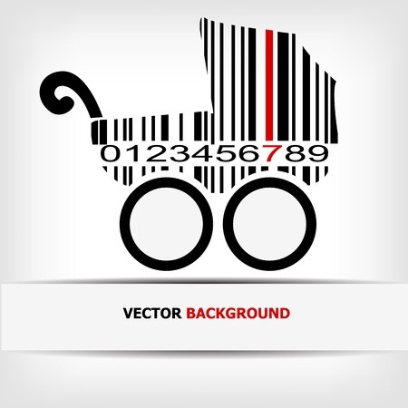 Barcode image with red strip -  illustration Stock Vector - 15727833