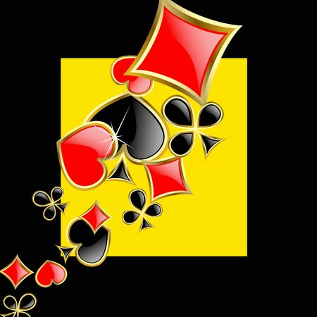 joker playing card: the abstract play card background  Stock Photo