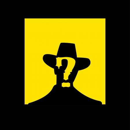 gunfighter: wanted poster image -  illustration