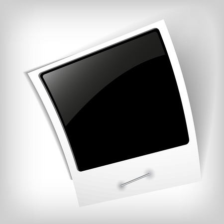 blank photo: abstract photo frame - vector illustration