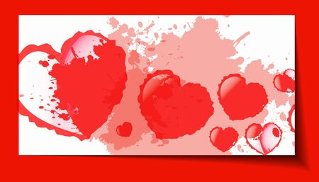 Heart from paper Valentines day card grunge background - vector illustration Vector