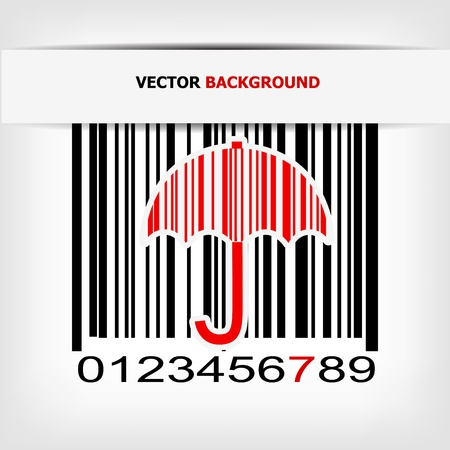 Barcode image with red strip - vector illustration Stock Vector - 17348083