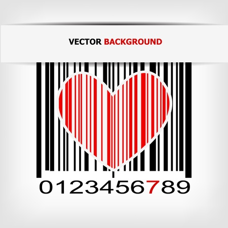 Barcode image with red strip - vector illustration Stock Vector - 17348082
