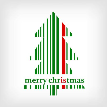 Abstract green Christmas tree barcode background Stock Vector - 17885606