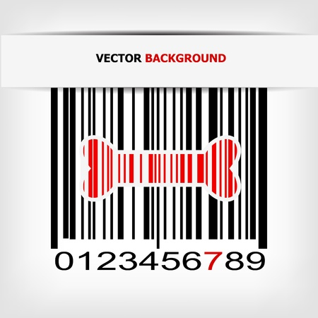 Barcode image with red strip Stock Vector - 17885616