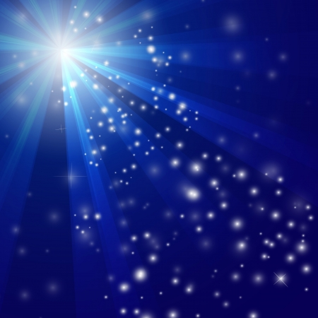 Illustration of Abstract blue Light background