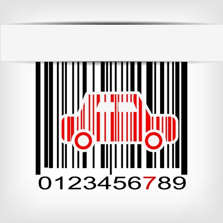 identification: Bar code image with red strip illustration