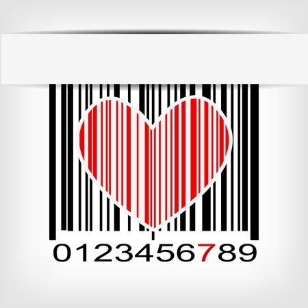 Bar code image with red strip illustration Stock Vector - 19008619