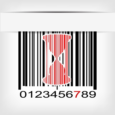 Barcode image with red strip - illustration Stock Vector - 20098971