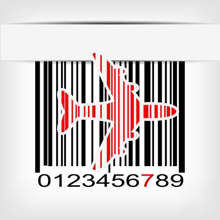 Barcode image with red strip - illustration Stock Vector - 20099073