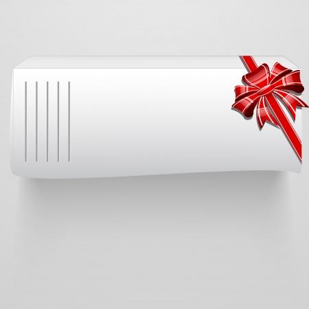 Abstract white box, bow and ribbon - illustration Stock Vector - 20099017