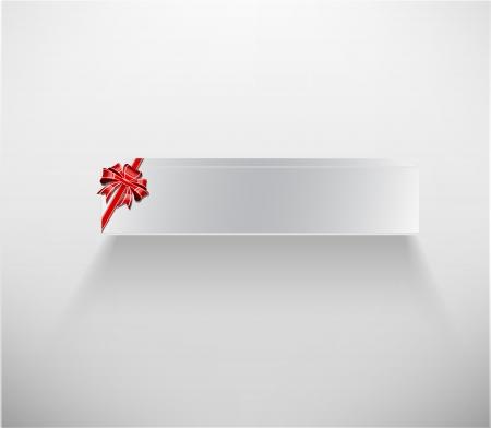 Abstract white box, bow and ribbon - illustration Stock Vector - 20099038