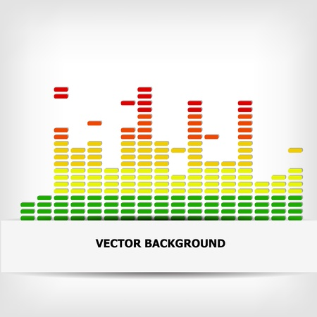 Abstract rainbow equalizer background - illustration