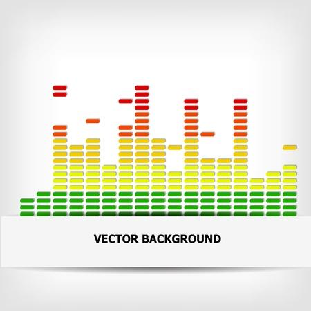 Abstract rainbow equalizer background - illustration Фото со стока - 20099071