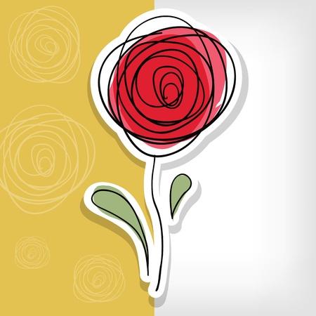 Bloemen achtergrond met abstracte rozen - vector illustratie Stock Illustratie