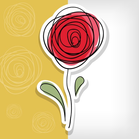 Floral background with abstract roses - vector illustration Ilustração