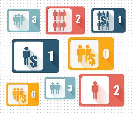 gstring: Set of design icons for Business - vector illustration