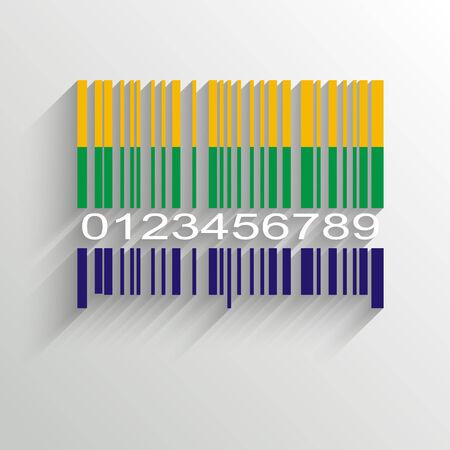 Brazil Summer Barcode Background - vector illustration Vector