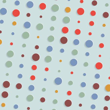 abstract geometric retro polka dot background Vector