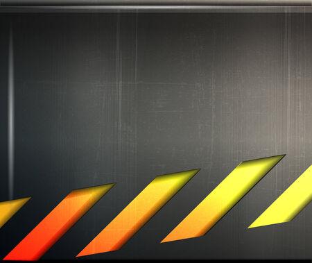 hazard stripes: abstract metal danger background