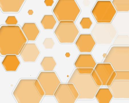 Abstract hexagon s design template