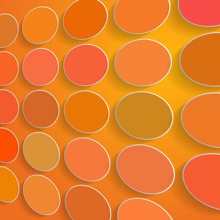 cercles de couleurs sur fond orange
