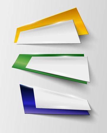 abstract geometric banner in Brazil color - vector illustration Vector