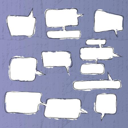A set of comic bubbles and elements - vector illustration Vector