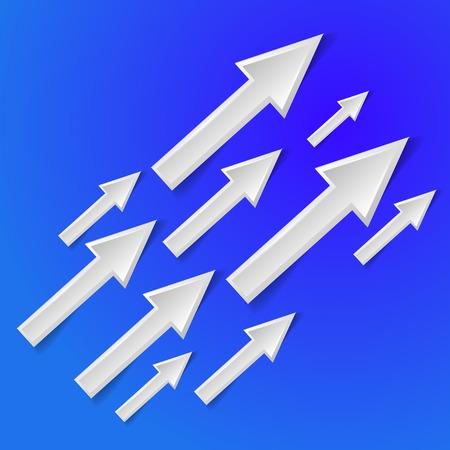 interface menu tool: freccia bianca su sfondo blu - illustrazione vettoriale