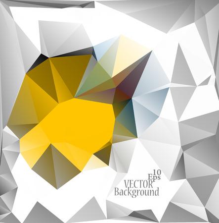 triangular shape: Multicolor ( Yellow, Gray, Brown ) Design Templates. Geometric Triangular Abstract Modern Vector Background. Illustration