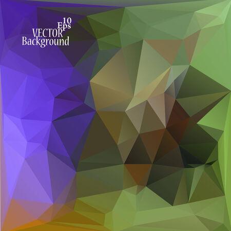 verde y morado: Multicolor (verde, p�rpura, violeta, marr�n) Plantillas de dise�o. Fondo geom�trico triangular abstracta moderna del vector.