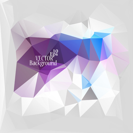 paper clips: Multicolor ( Blue, Violet, Purple, Gray ) Design Templates. Geometric Triangular Abstract Modern Vector Background. Illustration