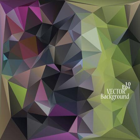 verde y morado: Multicolor (verde, p�rpura, violeta) Plantillas de dise�o. Fondo geom�trico triangular abstracta moderna del vector. Vectores