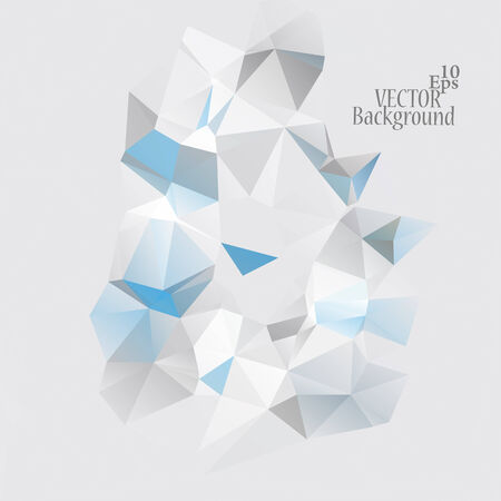 Multicolor ( Blue, Gray, White ) Design Templates. Geometric Triangular Abstract Modern Vector Background. Vector