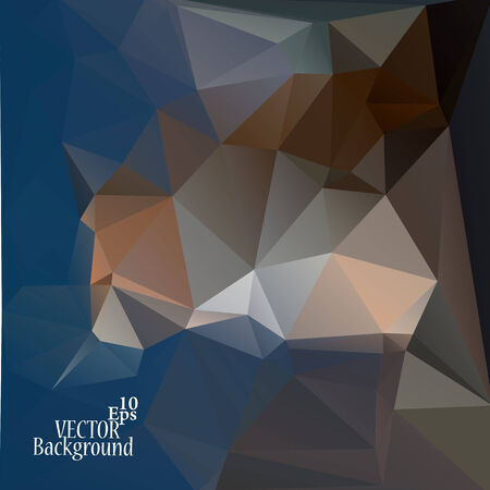 Multicolor ( Blue, Brown, Gray ) Design Templates. Geometric Triangular Abstract Modern Vector Background. Vector