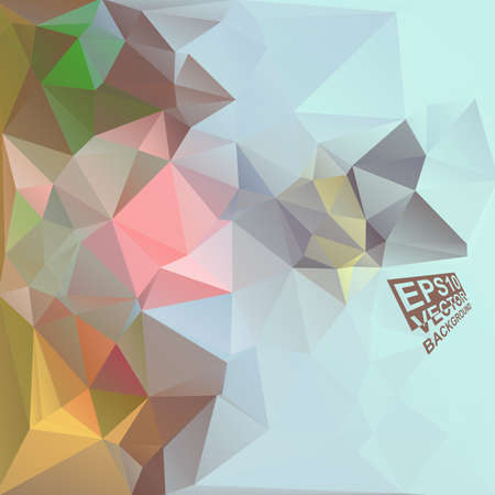 Multicolor ( Blue,Rose,Brown,Yellow,Green ) Design Templates. Geometric Triangular Abstract Modern Background. Vector