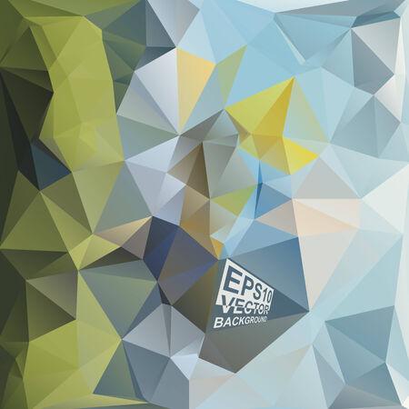 motley: Multicolor (verde, blu, giallo, bianco, Motley) per Design. Geometric Background triangolare moderno astratto Vector.